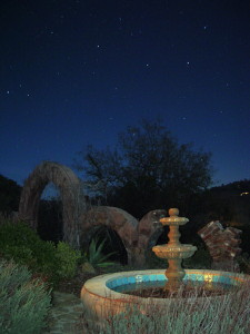 Night view of fountain